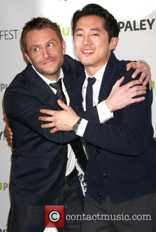 Chris Hardwick and Steven Yeun 8