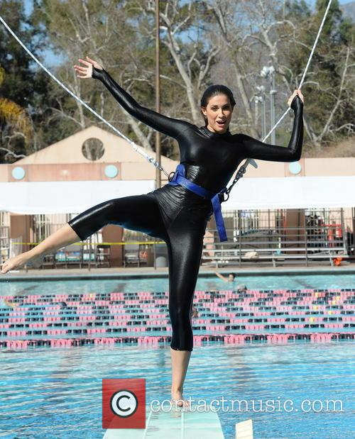 katherine webb celebrities practice their dives for 3535606