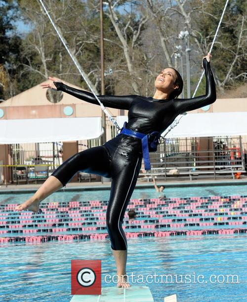 katherine webb celebrities practice their dives for 3535609