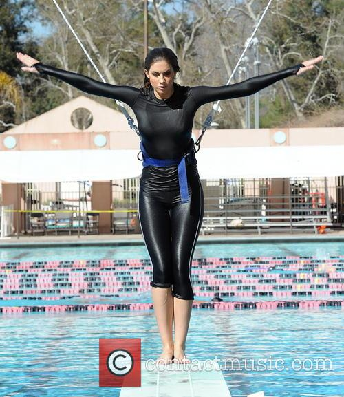 katherine webb celebrities practice their dives for 3535634