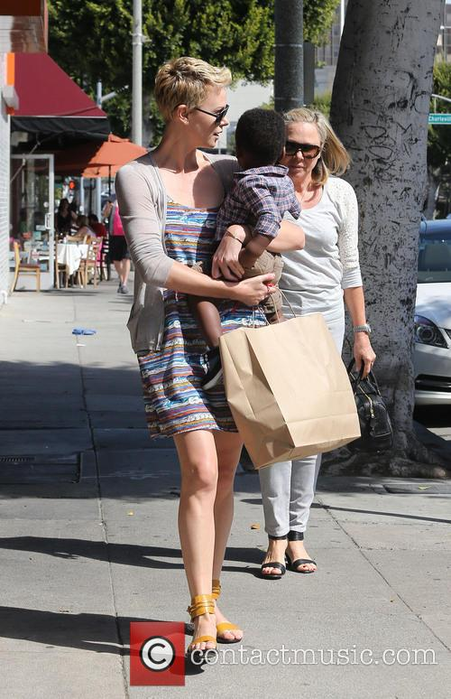 Charlize Theron takes Jackson to the hairdressers