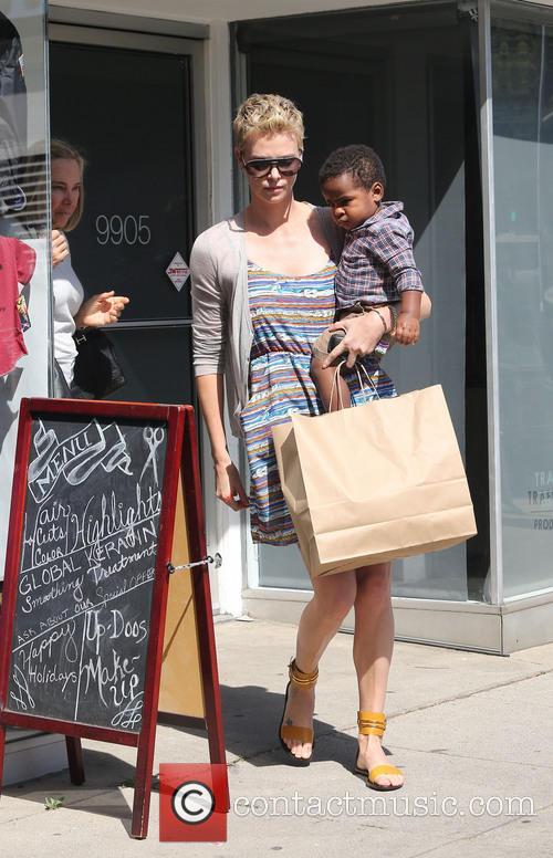 Charlize Theron and Jackson Theron 3