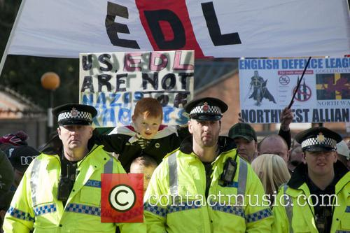 EDL protest in Manchester