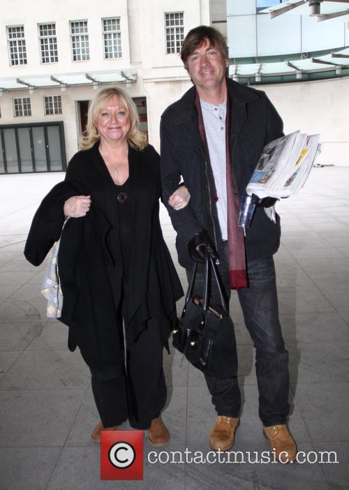 Richard Madeley and Judy Finnigan outside the BBC...