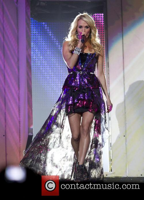 Carrie Underwood performing on her 'Blown Away Tour'