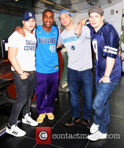 Simon Webbe, Antony Costa, Lee Ryan and Duncan James Of Blue 6