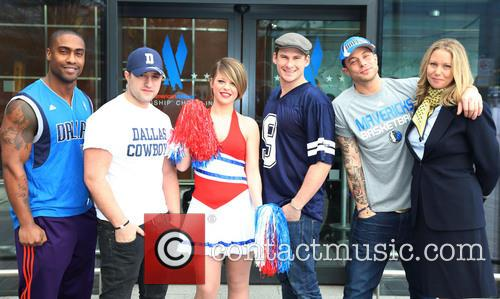 Boy band Blue attend a photocall for American...