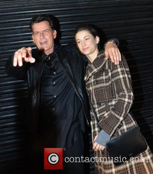 Charlie Sheen and Georgia Jones