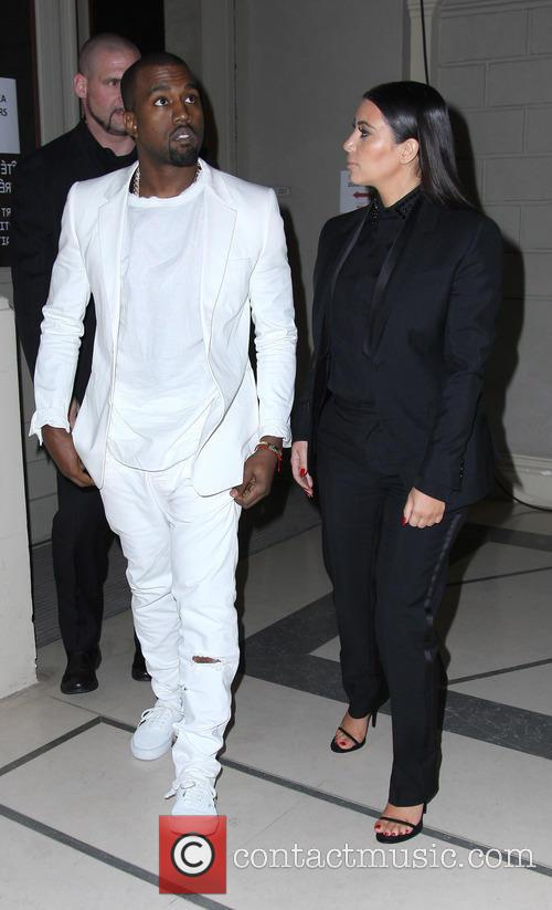 Kanye West and Kim Kardashian 1