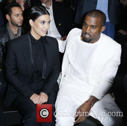 Kim Kardashian, Kanye West, Paris Fashion Week