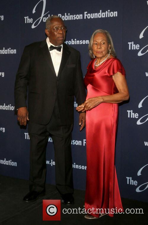 Hank Aaron and Rachel Robinson 3