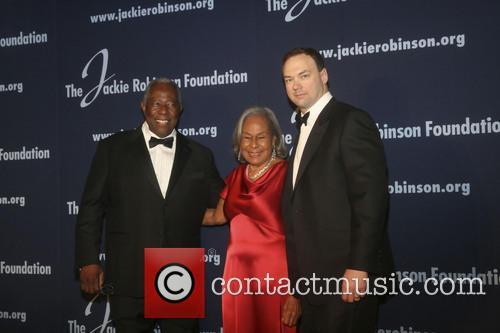 Hank Aaron, Rachel Robinson and Tomas Tull 2