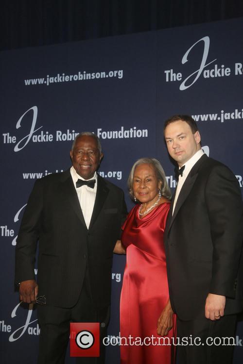 Hank Aaron, Rachel Robinson and Tomas Tull 4