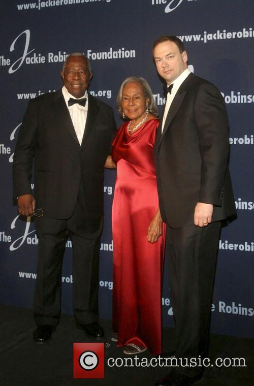 Hank Aaron, Rachel Robinson and Tomas Tull 1