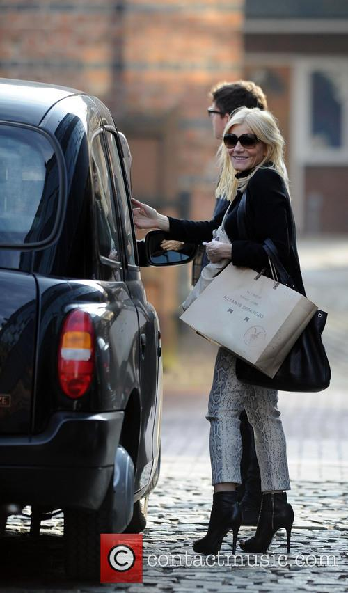 Michelle Collins with a male companion