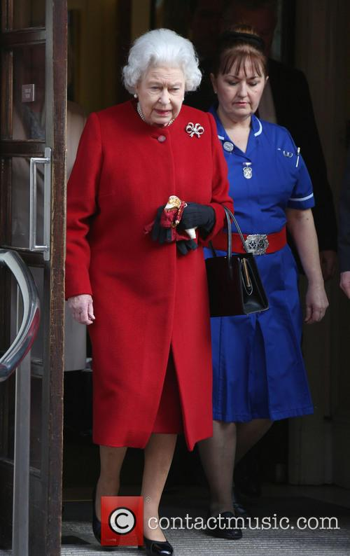 Queen Elizabeth II leaves the King Edward VII...