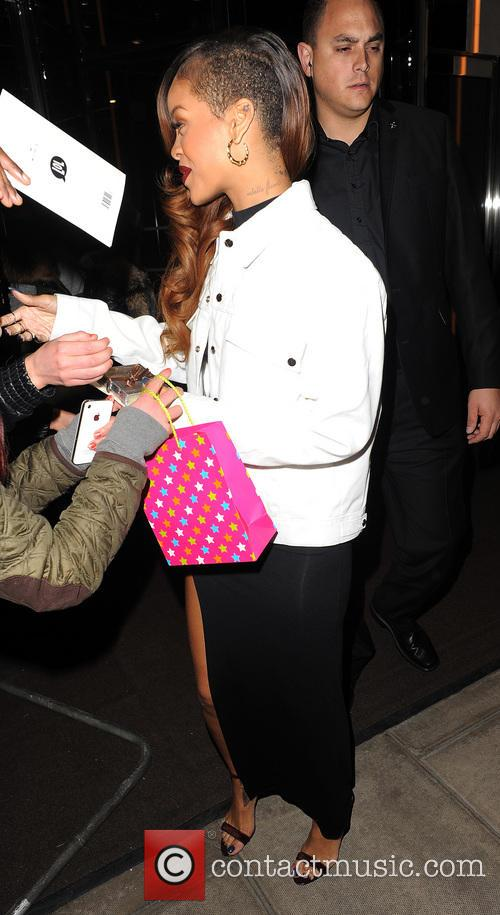 Rihanna departs her London hotel to head to...
