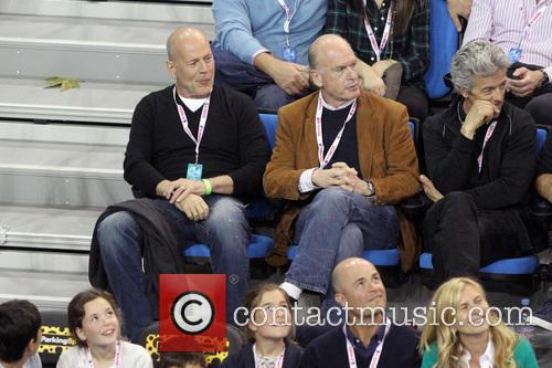 bruce willis celebrities at the la tennis 3540221