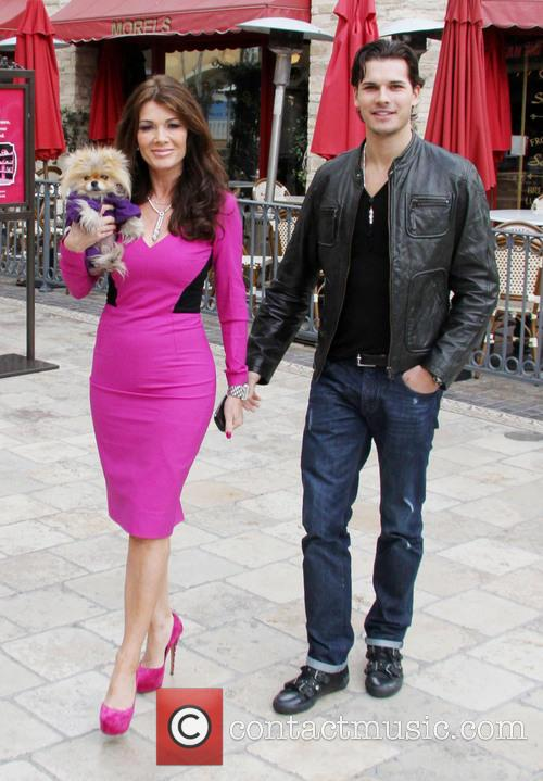 Lisa Vanderpump, Dog Giggy and Gleb Savchenko 6