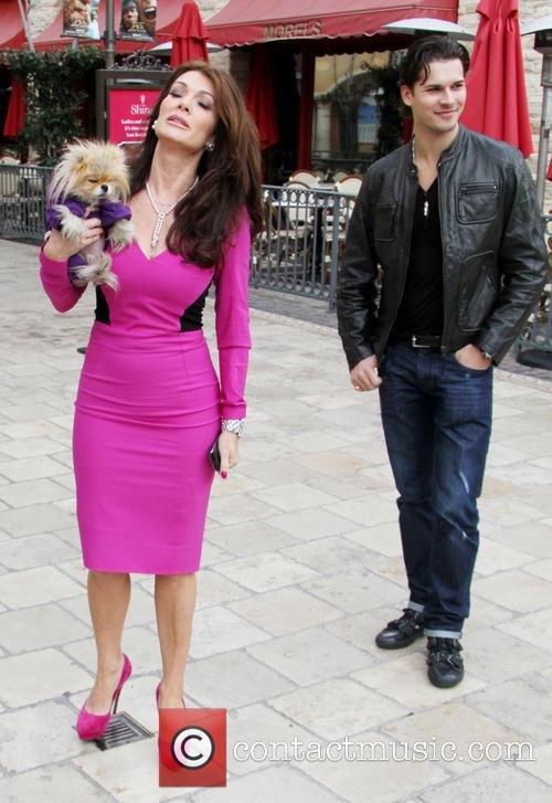 Lisa Vanderpump, Dog Giggy and Gleb Savchenko 4