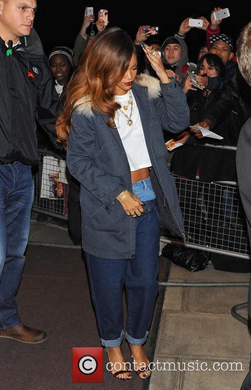 Rihanna Leaves For DSTRKT