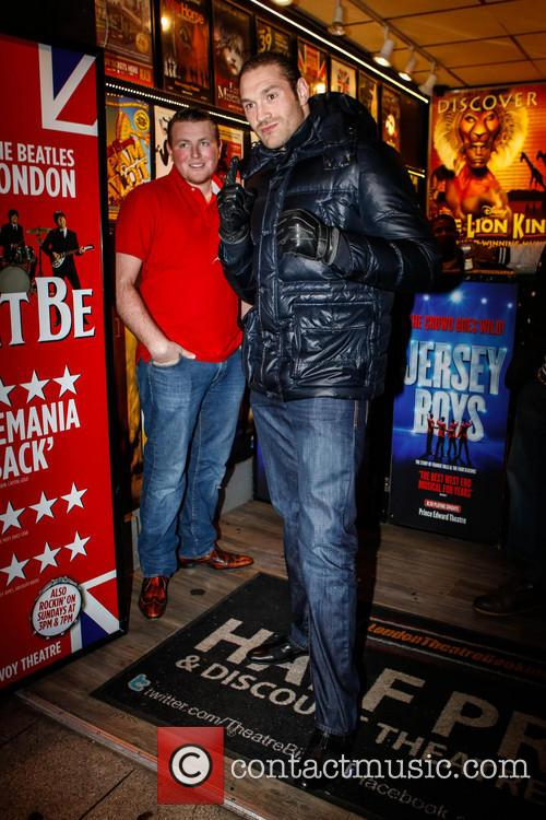 Tyson Fury Out And About In Piccadilly
