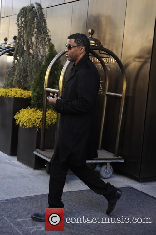 R&B singer Babyface leaves his hotel in Manhattan