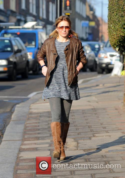 Brown Leather Jacket, Pigtails, Bunches, Boucle Dress, Grey Tights, Sunglasses and Brown Boots 1