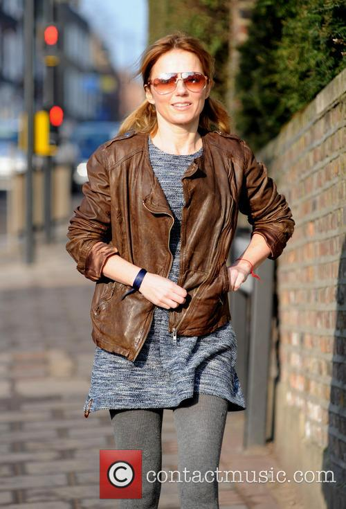 Brown Leather Jacket, Pigtails, Bunches, Boucle Dress, Grey Tights and Sunglasses 5