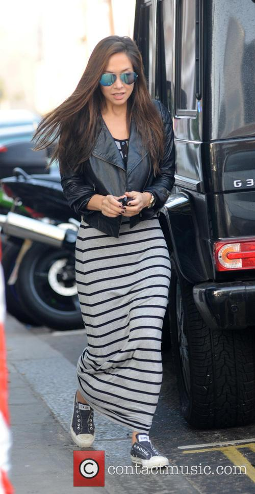 Stripes, Stripey Maxi Dress, Leather Jacket, Sunglasses, Aviators, Converse Trainers and Mirrored Sunglasses 7