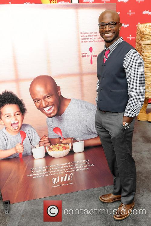 "Taye Diggs unveils ""Got Milk?"" milk mustache ad at the Hollywood & Highland Center in Hollywood"