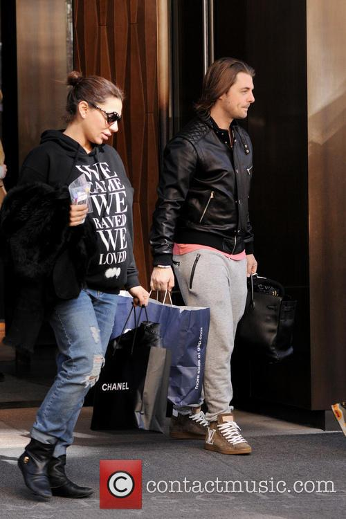 Celebrities outside their Manhattan hotel in New York...