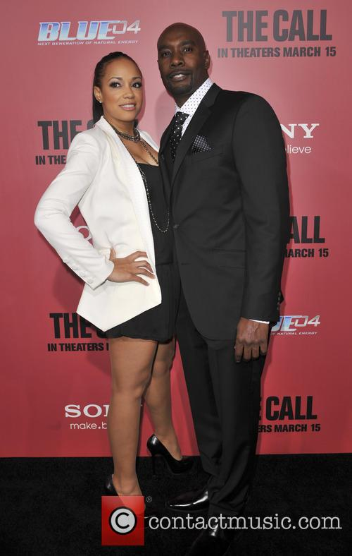 morris chestnut pam byse los angeles premiere of 3541344