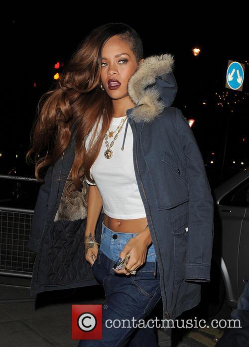 Rihanna Arriving Back At Her Hotel