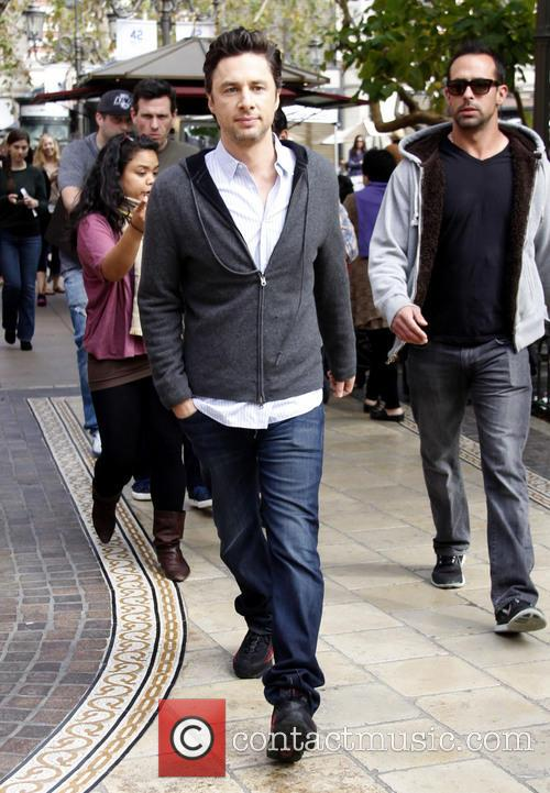 zach braff celebrities at the grove to 3542581