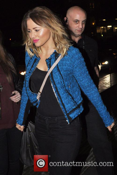 Kimberley Walsh arrives back at The Lowry Hotel...
