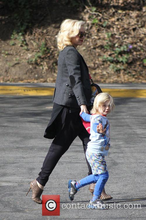 Gwen Stefani and son Zuma Rossdale are seen...