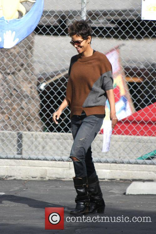 Halle Berry takes daughter Nahla Aubry on a...