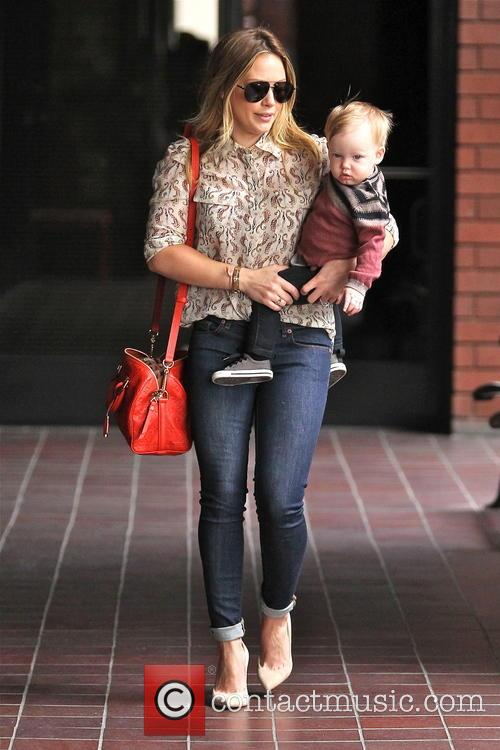 Hilary Duff takes her son Luca to baby class in Sherman Oaks