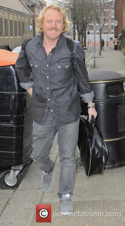 Keith Lemon, aka Leigh Francis outside Riverside studios