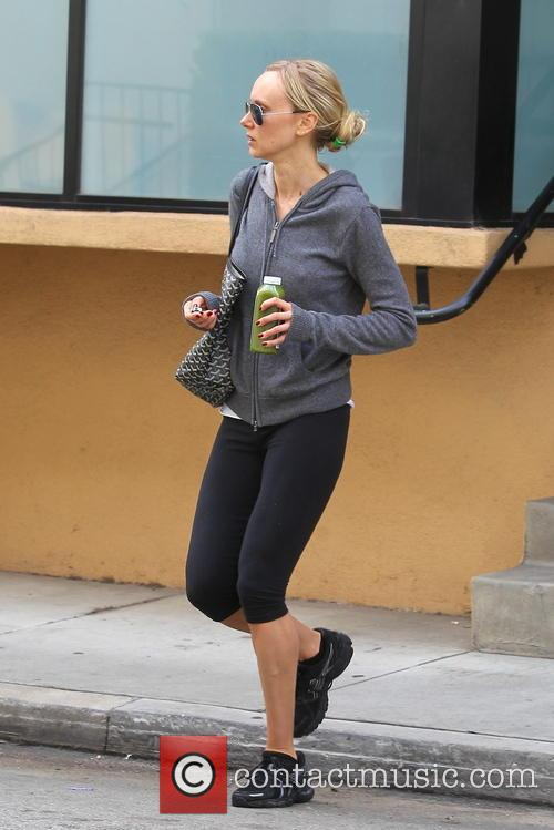 Kimberly Stewart is seen leaving the gym in...