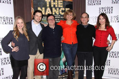 Jenni Barber, Jonny Orsini, Nathan Lane, Cady Huffman, Lewis J. Stadlen and Andrea Burns 1