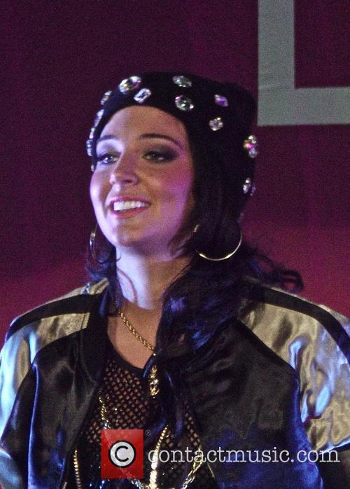 Tulisa performing live in concert