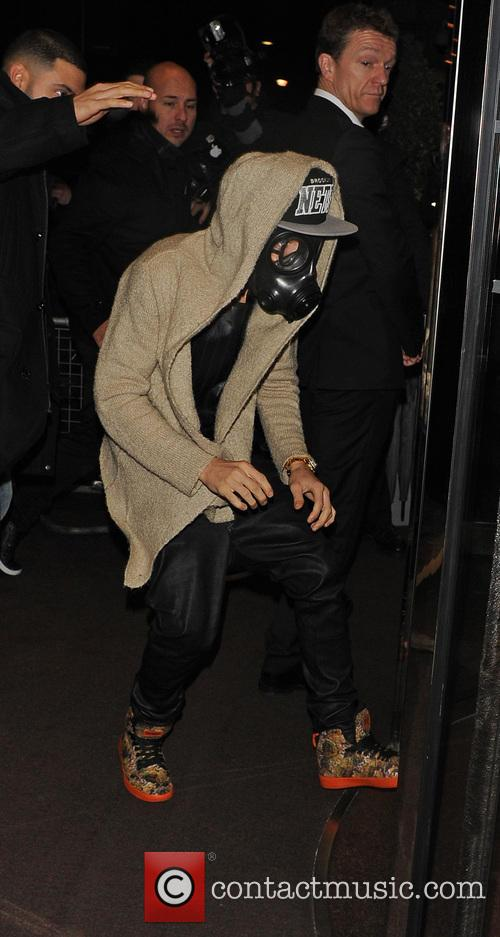 Justin Bieber up to the usual in London