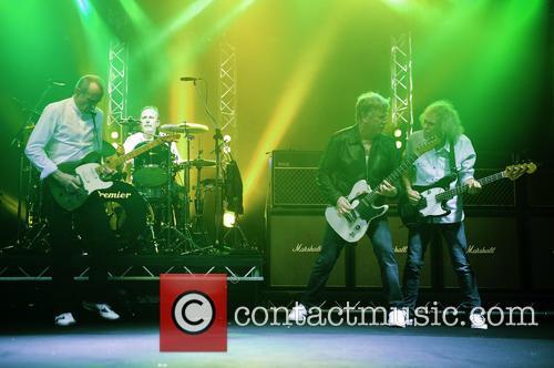 Rick Parfitt, Francis Rossi, Alan Lancaster, Matt Letley and Status Quo 8