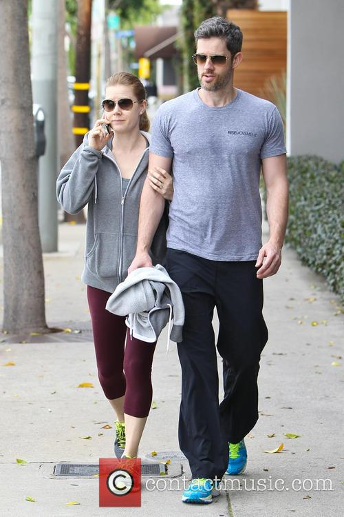 Amy Adams and her partner Darren Le Gallo...