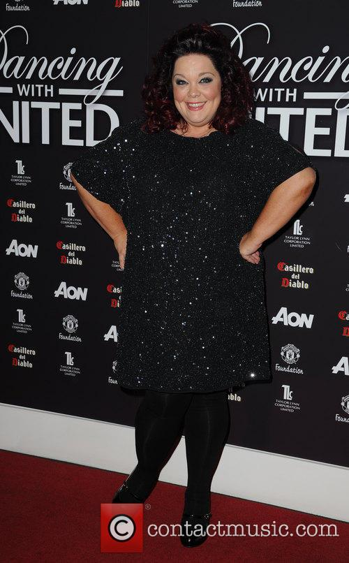 lisa riley dancing with united at the 3543781