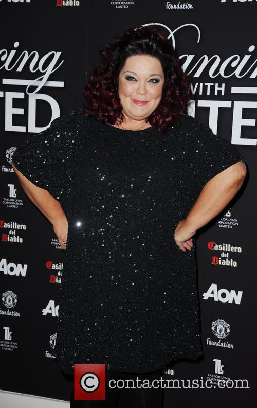 lisa riley dancing with united at the 3543881