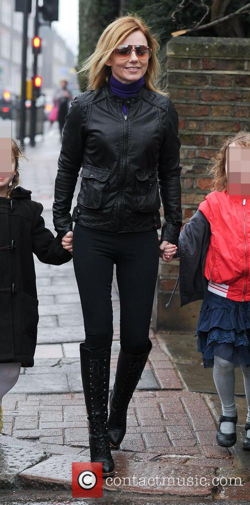 Geri Halliwell seen on a school run