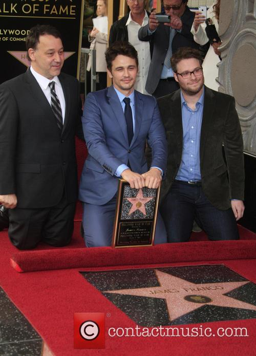 Sam Raimi, James Franco and Seth Rogen 1